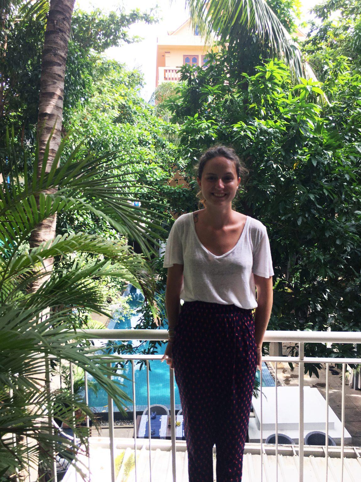 Portrait au Blue Lime Hotel à Phnom Pehn