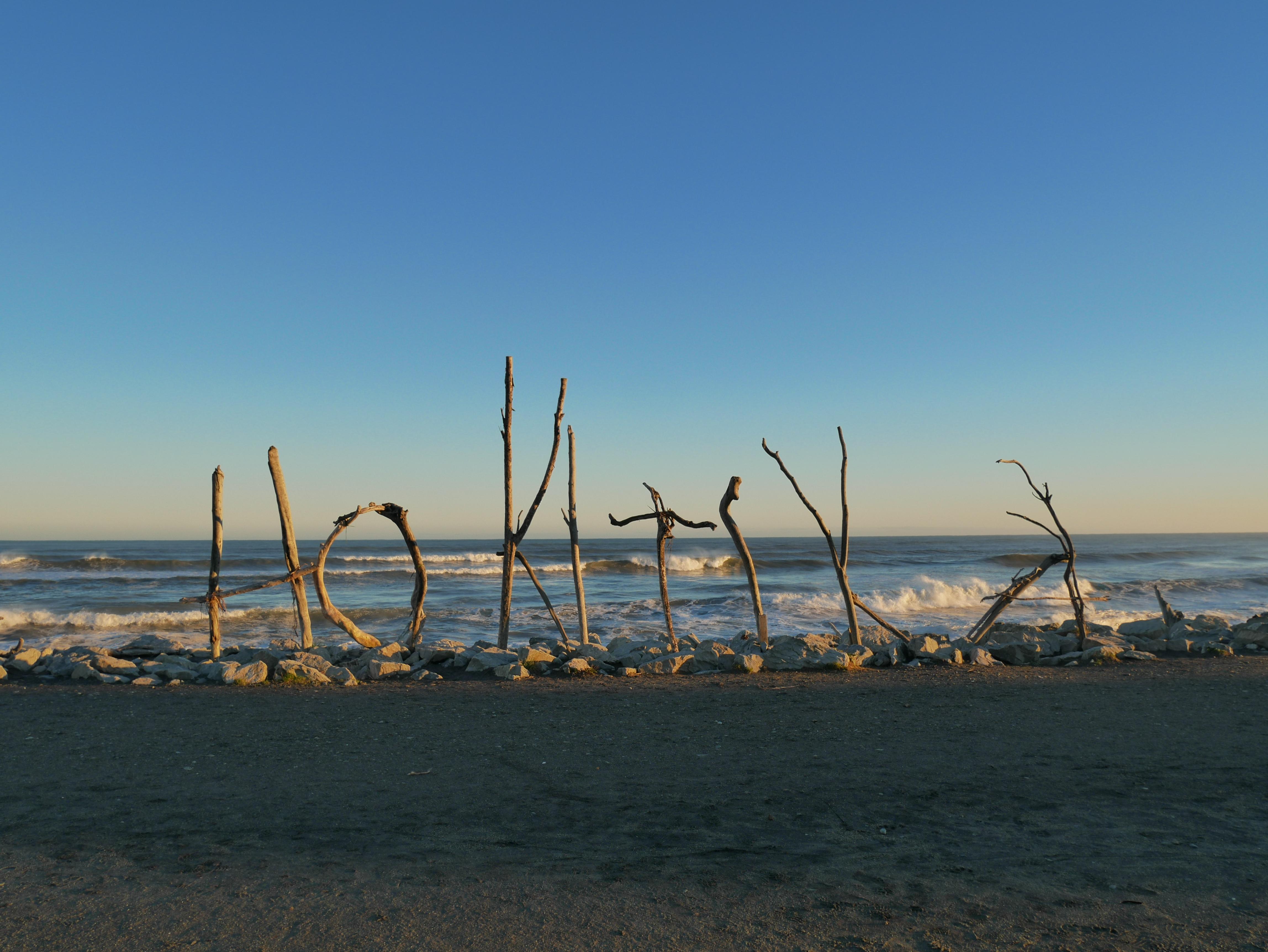 La plage d'Hokitika